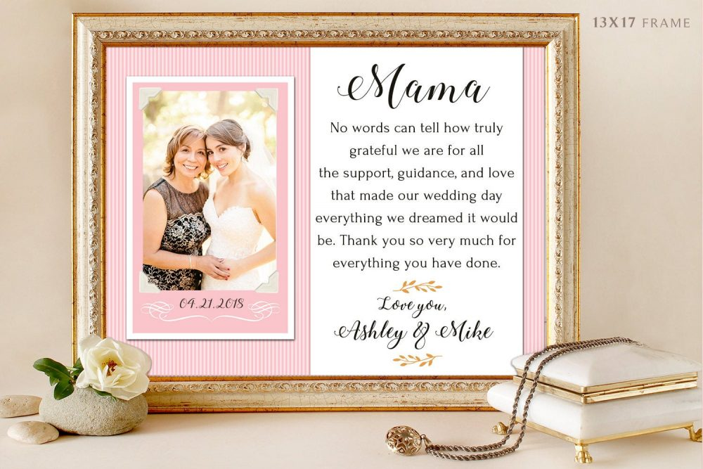 Parents Of The Groom Gift, Mother Groom, Father Thank You Wedding, Personalized Picture Frame