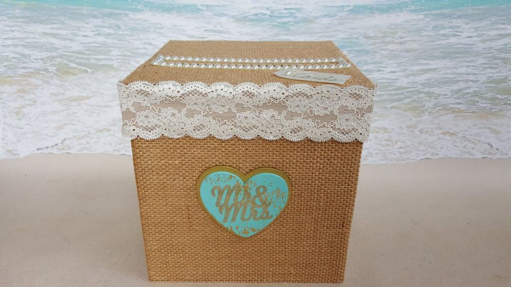 "Rustic ""Mr & Mrs"" Card Box 