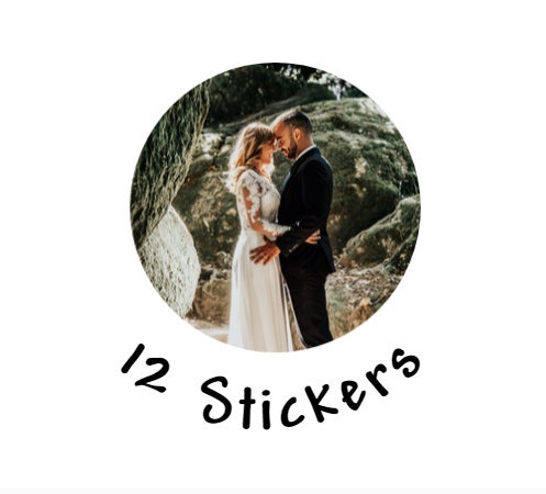 Wedding Photo Stickers Favors Save The Date Custom Free Shipping Additional Photo