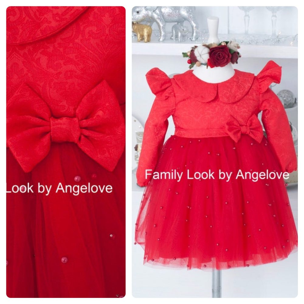 Holiday Party Dress, Christmas Photo Girl Dress, Lace 1st Dress