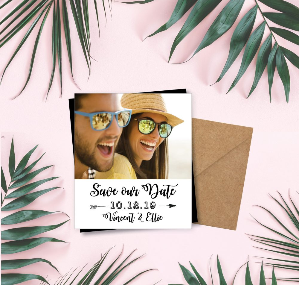 Simple & Sassy Save The Date Magnets, Photo Magnets, Wedding Magnet, Save Date Unique Idea + Envelopes