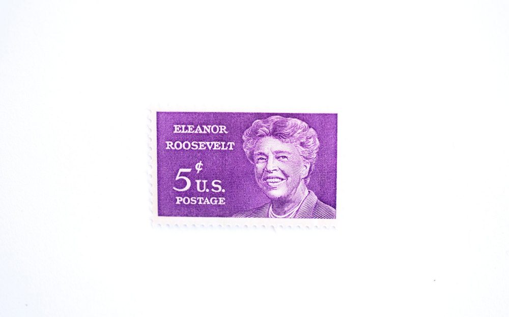 10 Eleanor Roosevelt Postage Stamps // Unused 5 Cent Stamp Vintage For Weddings Purple Postage Women Bright
