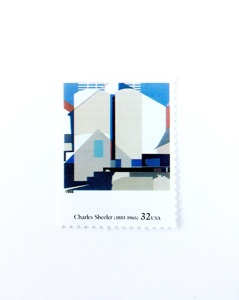 "5 ""Two Against The White"" By Charles Sheeler Postage Stamps // Unused 32 Cent Stamp Four Centuries Of American Art Wedding Postage"