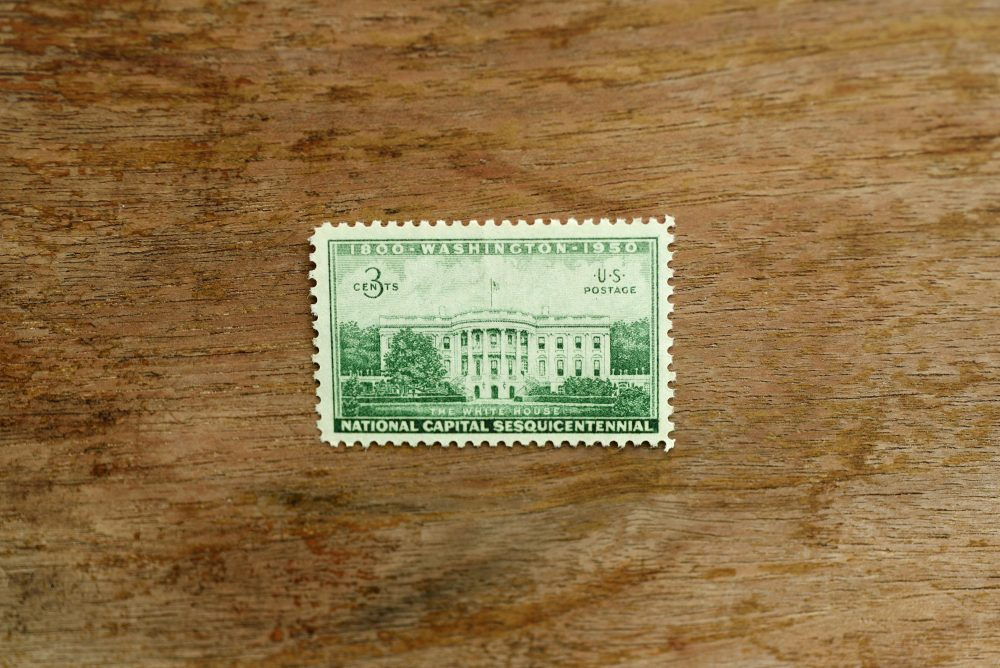 10 Executive Mansion Postage Stamps //Unused// 3 Cent Stamp// Vintage // Green Wedding Postage White House National Capitol