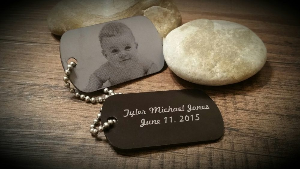 Photo Engraved Keychain, Picture Dog Tag, Laser Personalized Baby Gift, Engraved, Handwriting, Key Chain, Necklace