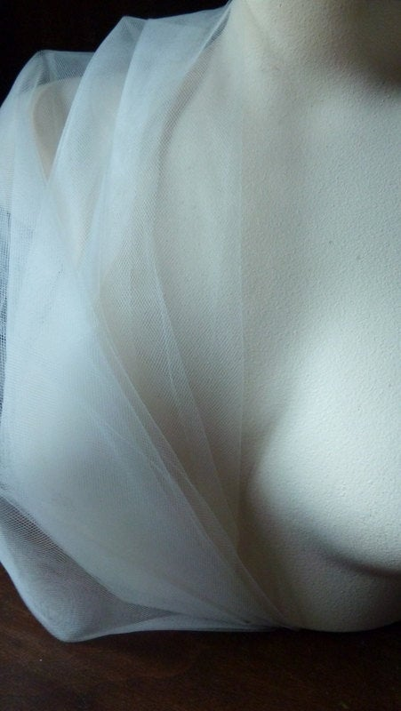 "3 Yds Diamond White 108"" Wide Illusion Tulle American Made For Veils, Birdcage Garters, Fascinators, Hats, Headbands"