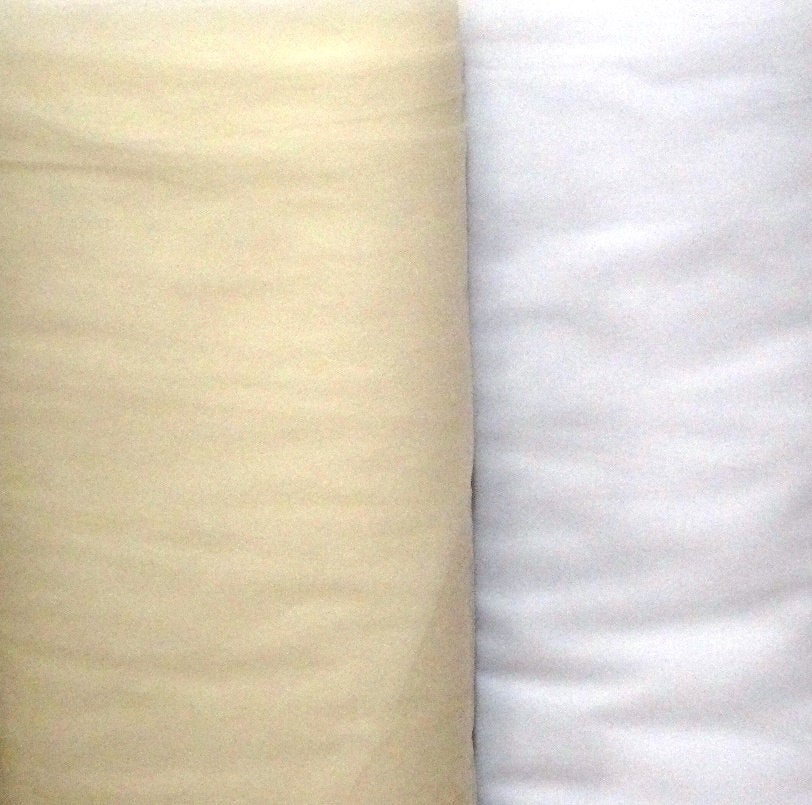 New, 108 Inch Nylon Tulle Illusion in White For Bridal, By The Yard, Wedding, Costumes, Tutus, Skate, Drams, Plays, Craft Projects, Prom