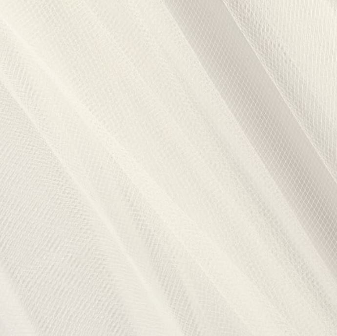 "By The Yard 108"" Wide Bridal Illusion Tulle For Wedding Veils, Wear, Tutus, White, Ivory"