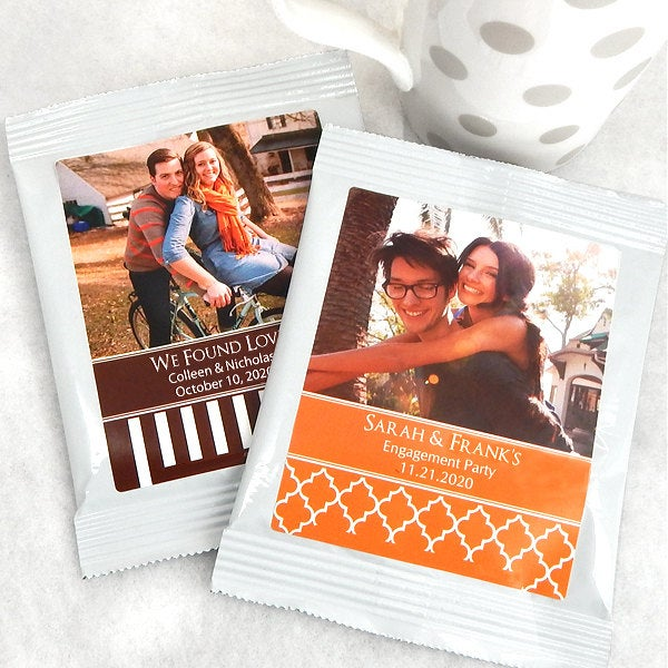 25 Hot Chocolate Wedding Favors, Personalized Cocoa Fall Favors