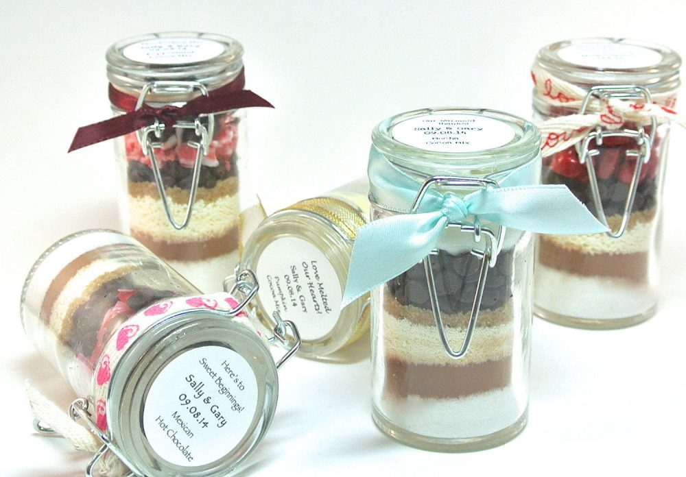 Hot Chocolate Favor, 12 Mini Snap Top Jars, Winter Wedding, Cocoa Wedding Bridal & Baby Shower, Corporate Gift, Edible Favor