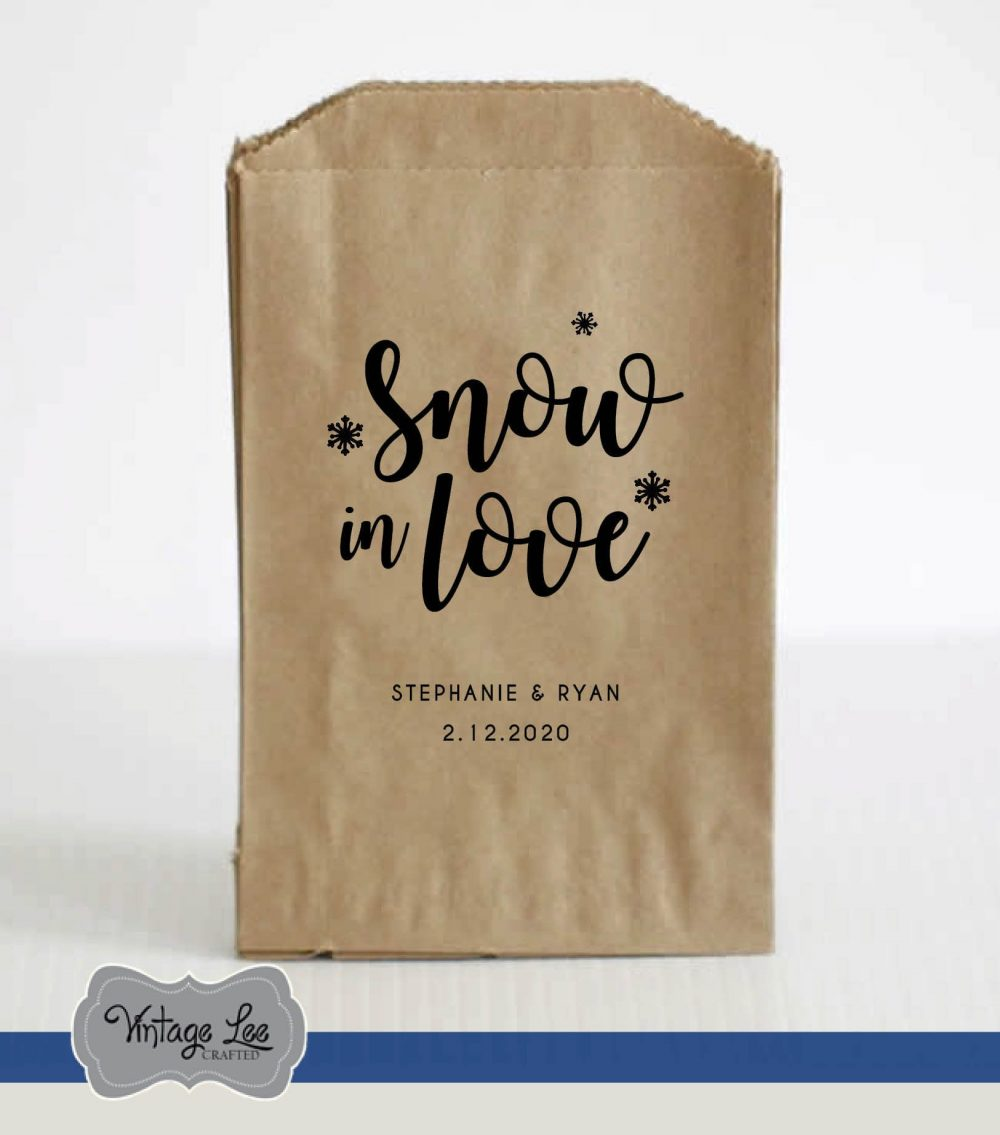 Winter Wedding Favors, Favor Bags, Hot Cocoa Chocolate Bar