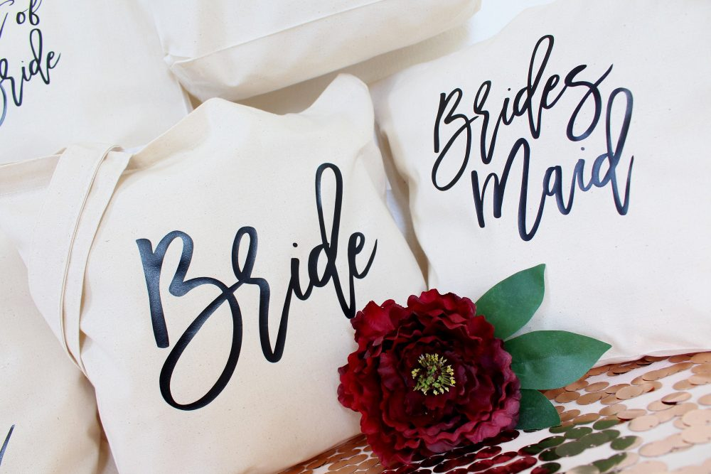 Bridesmaids Gifts, Tote Bags, Bridal Party Gift, Personalised Bag, Custom For Weddings