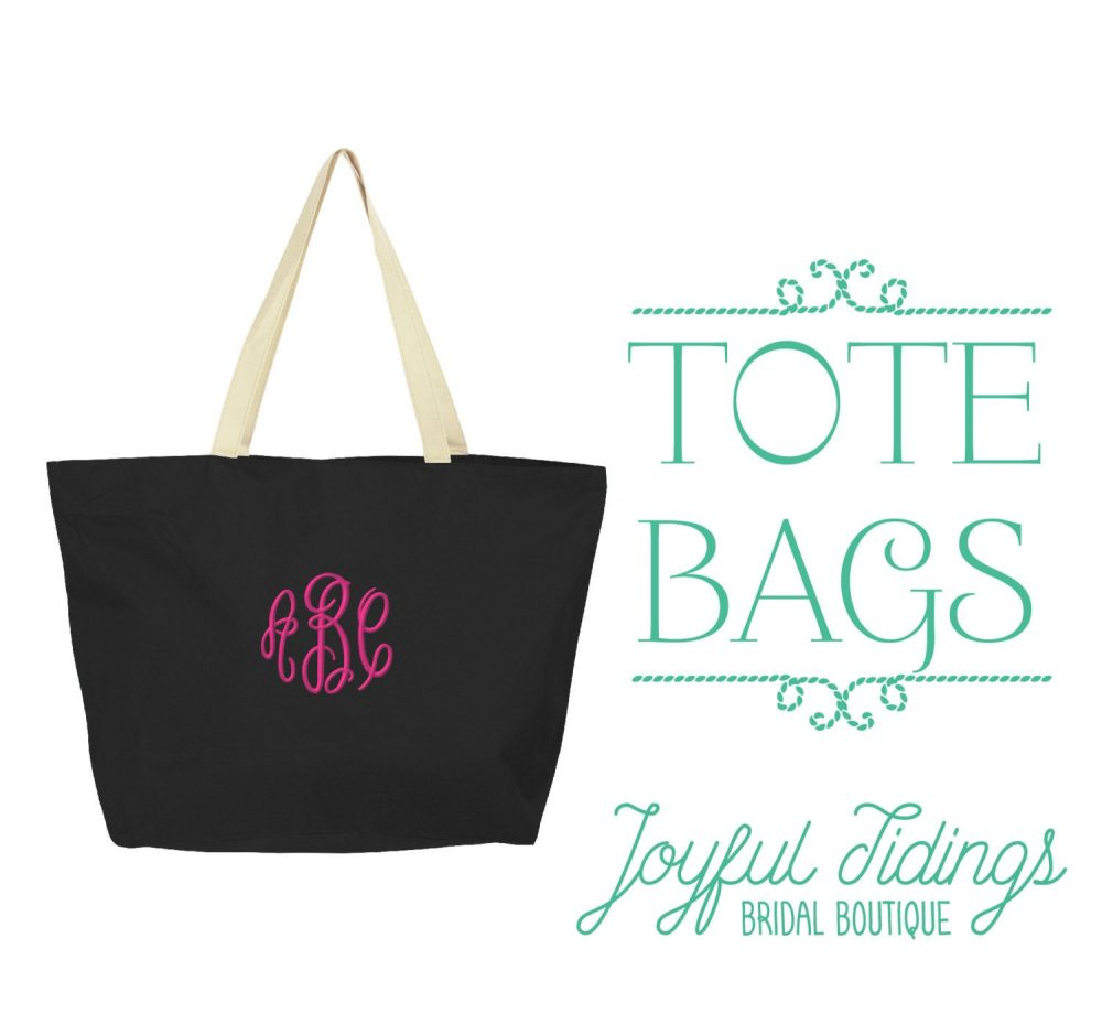 Sale Monogrammed Large Tote Bag, Bridesmaid Gift Tote, Beach Bridal Gift, Set Of Bridesmaids Bag For Wedding