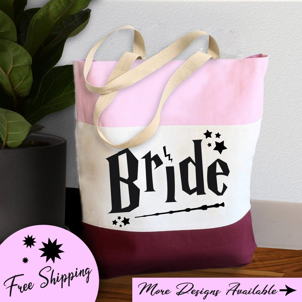 Bride Tote|Bridesmaid Gifts|Tote Bag Canvas|Wizard Theme|Wedding Gift|Tote Women|Bridesmaid Gift|Personalized Tote Bag|Bridal