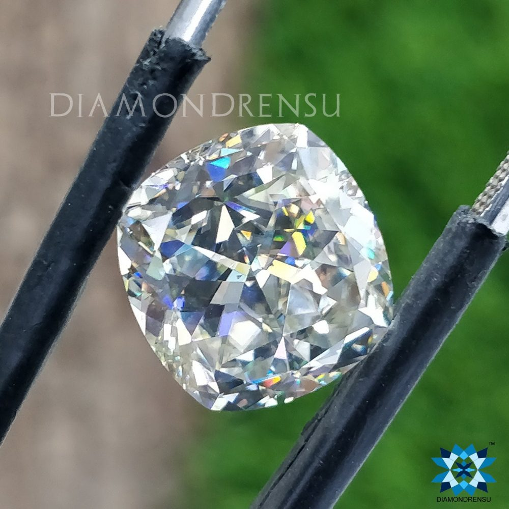 Divine Cushion Near Colorless Moissanite - 6.36 Carat For Making Jewelry, Engagement Ring, Wedding Ring