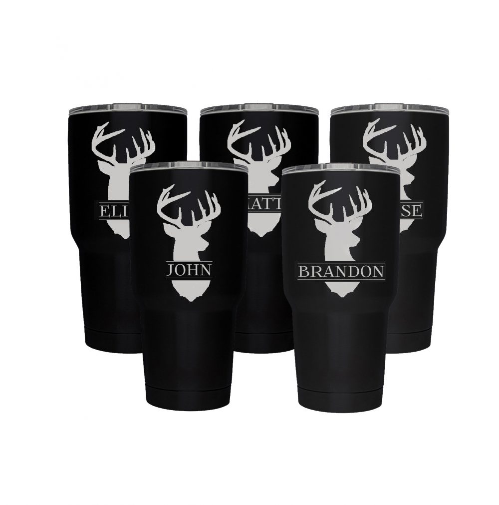 Groomsman Gifts Deer , Stainless Steel 30Oz Engraved Tumbler, Wedding Personalized Tumbler, Better Than A Yeti ;, Quanitities Available