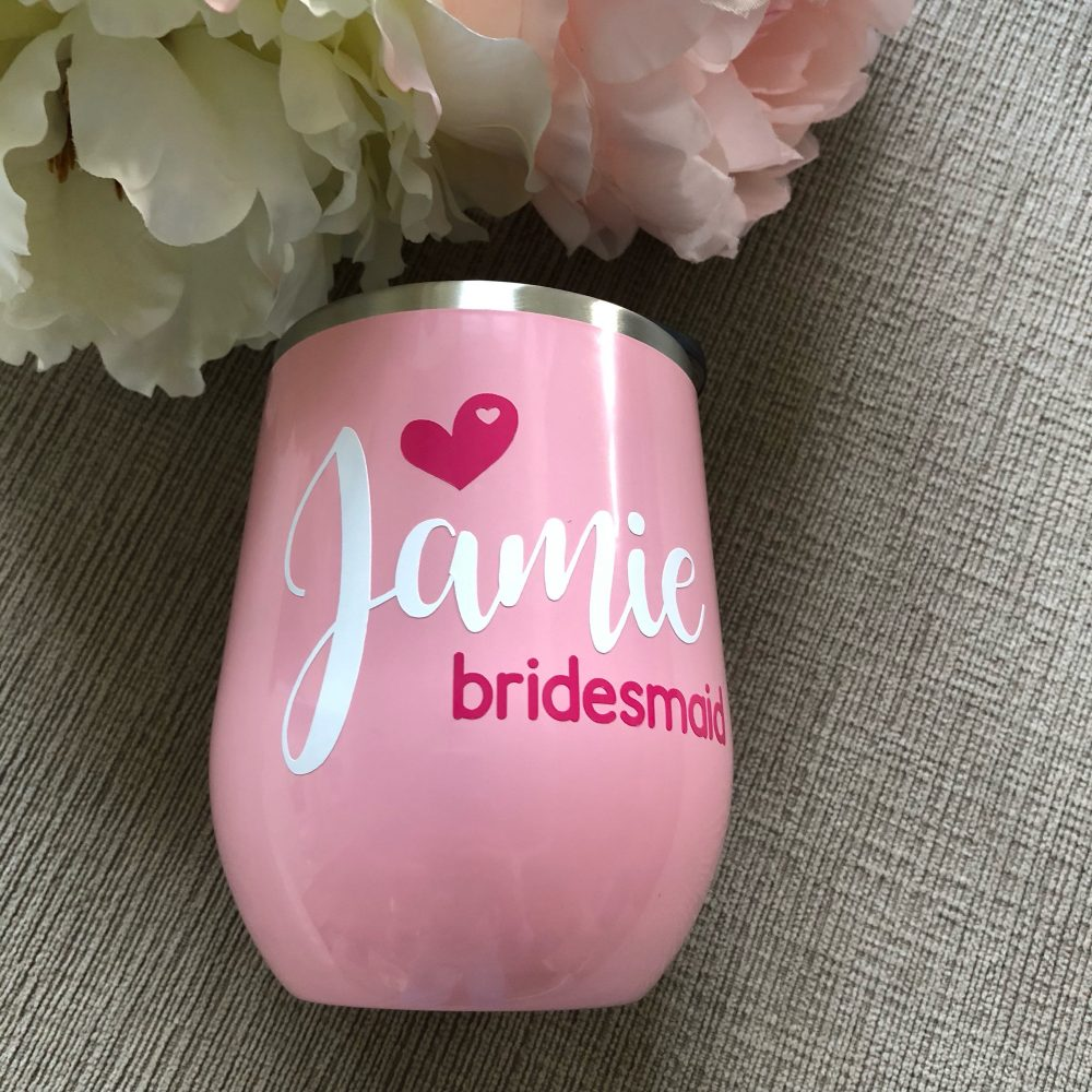 Bridesmaid Tumblers/Wedding Party Gifts/Bridal Gifts/Bridesmaid Gifts/Custom Wedding/Personalized Gifts/Flower Girl/Tumbler