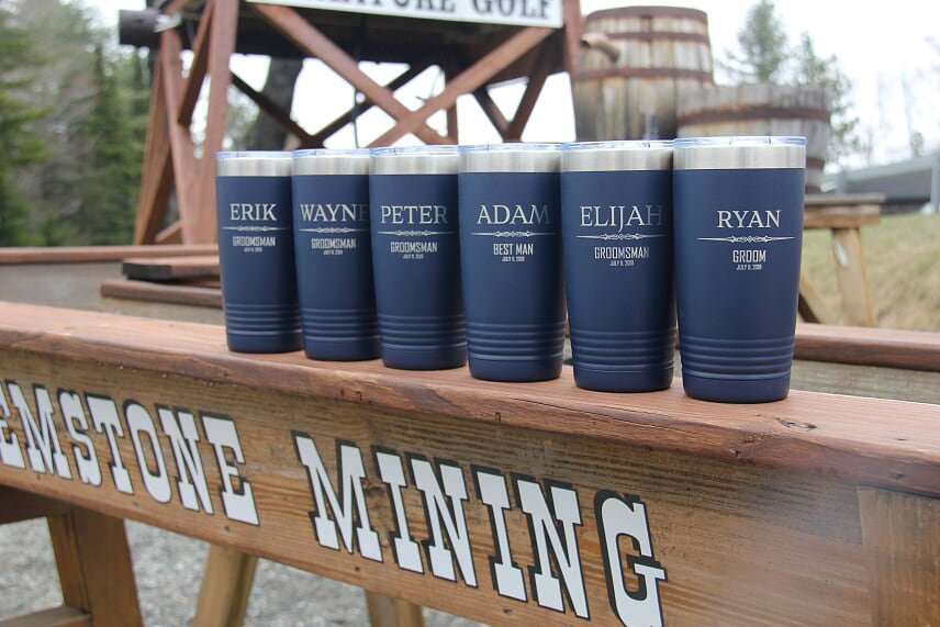 Groomsmen Tumbler, 20Oz & 30 Oz Polar Camel Engraved Yeti Bachelor Party Cup, Custom Wedding Personalized Bridal Gift