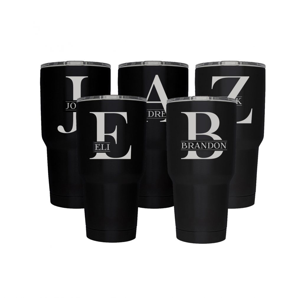 Set Of Six Groomsman Gift, Tumbler Set For Groomsmen, 30 Oz Stainless Steel Engraved Personalized Tumbler, Monogram, Free Shipping, Best Seller