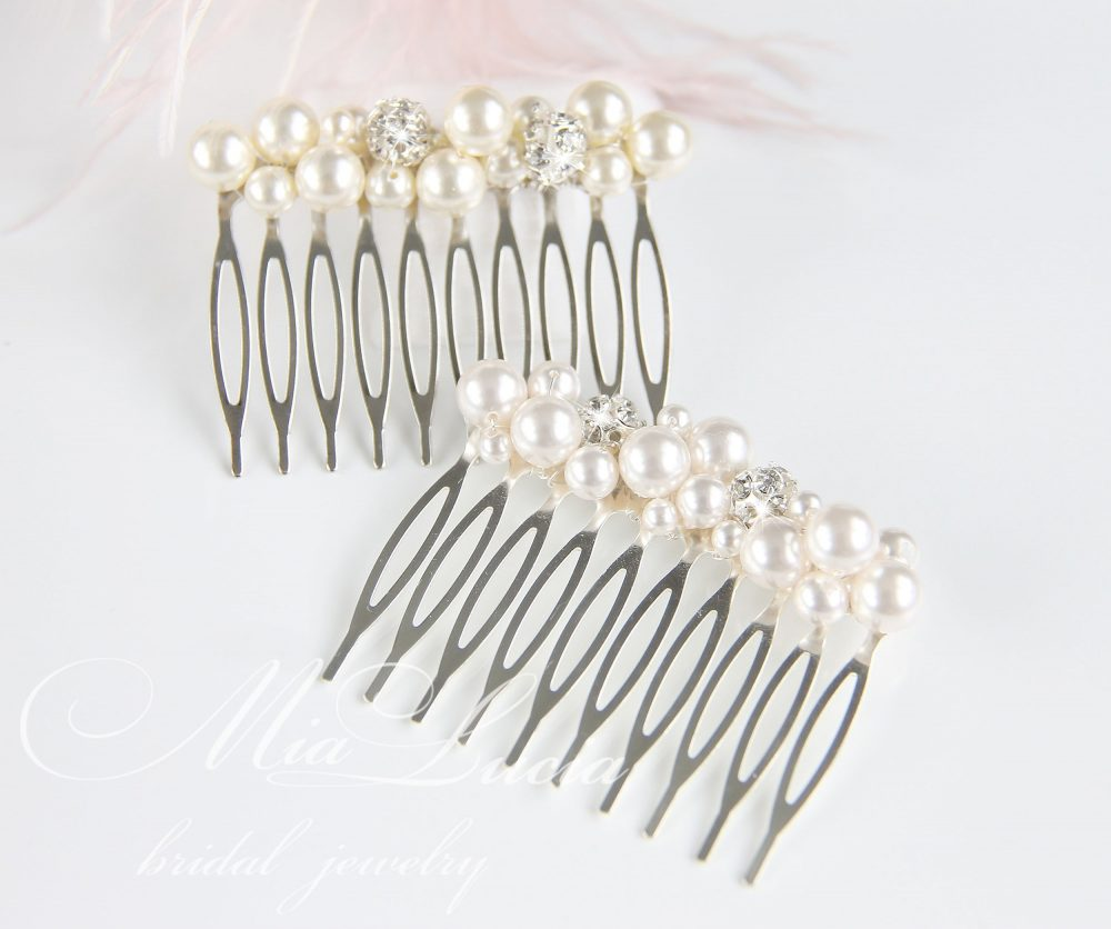 Bridal Hair Comb, Wedding Pearl Comb, Hair Hairpiece, Perl Hairpiece H01