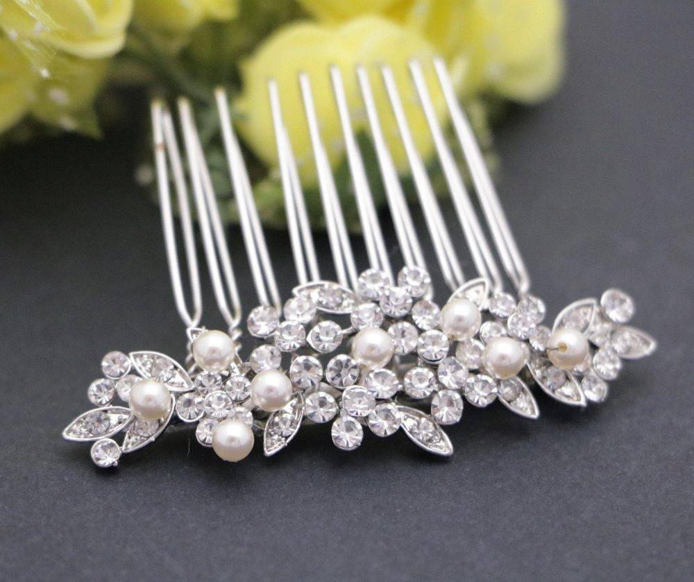 Bridesmaid Hair Comb Wedding Comb, Pearl Bridal Comb, Vintage Inspired Comb, Wedding Accessories, Wedding Piece, Comb