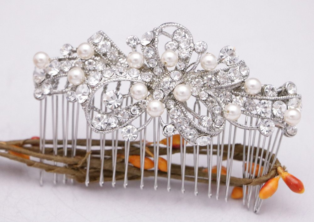 Wedding Hair Comb Floral Wedding Vintage Style Piece Bridal Jewelry Accessories Pearl