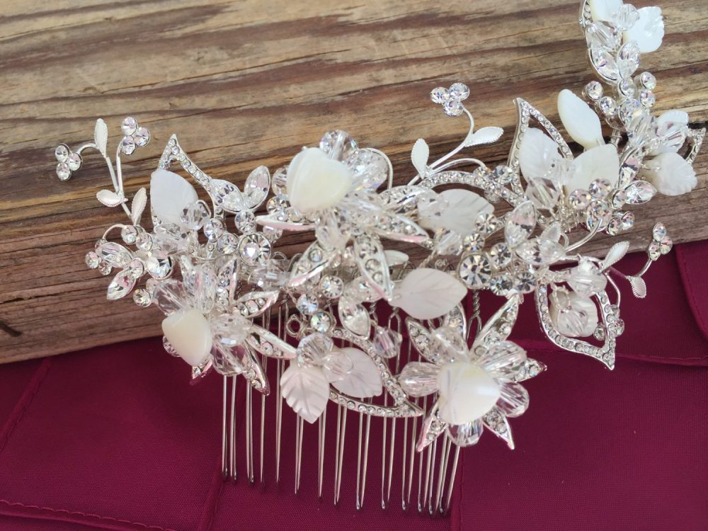 Bridal Hair Comb With Mother Of Pearl Shell Wedding Hair Comb, Wedding Accesories, Pearl Comb, Comb, Bridal Head Piece