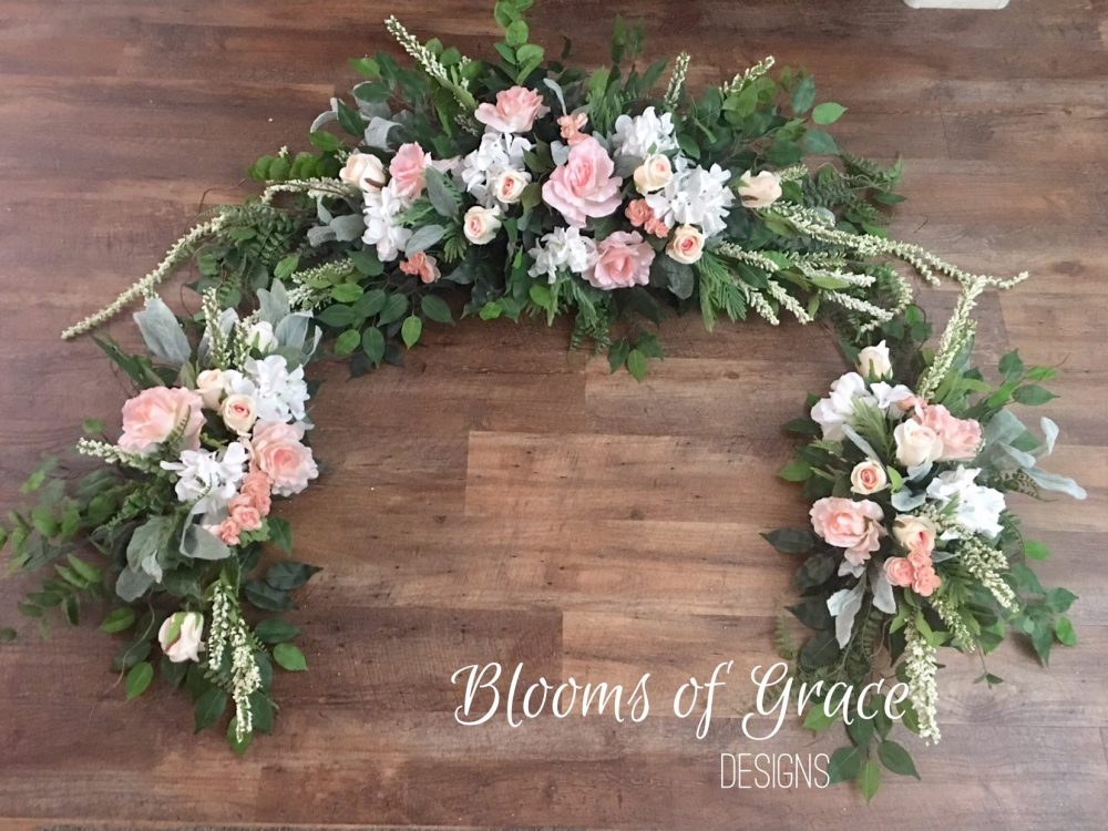 Wedding Arch, Pink Swag, Wedding Flowers, Arbor Decoracion, Garland, Gazebo Flowers