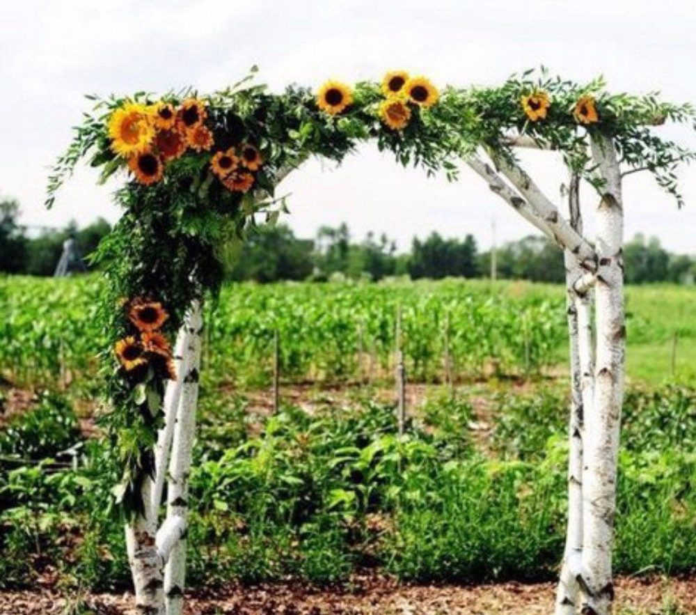 Sunflower Fall Wedding Arch Arbor Swag