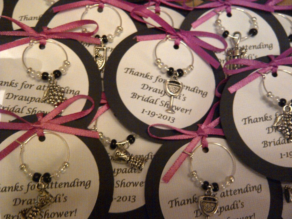 Custom Wine Themed Charm Favors - Weddings, Bridal Shower, Rehearsal Dinner, Anniversary, Birthday, Dinner Party Or Special Event