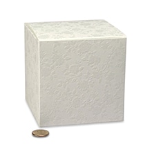 Lace Favor Tuck Top Boxes Cardboard - Quantity: 20 - Favor Boxes Width: 3 1/4 Height/Depth: 3 1/4 Length: 3 1/4 by Paper Mart