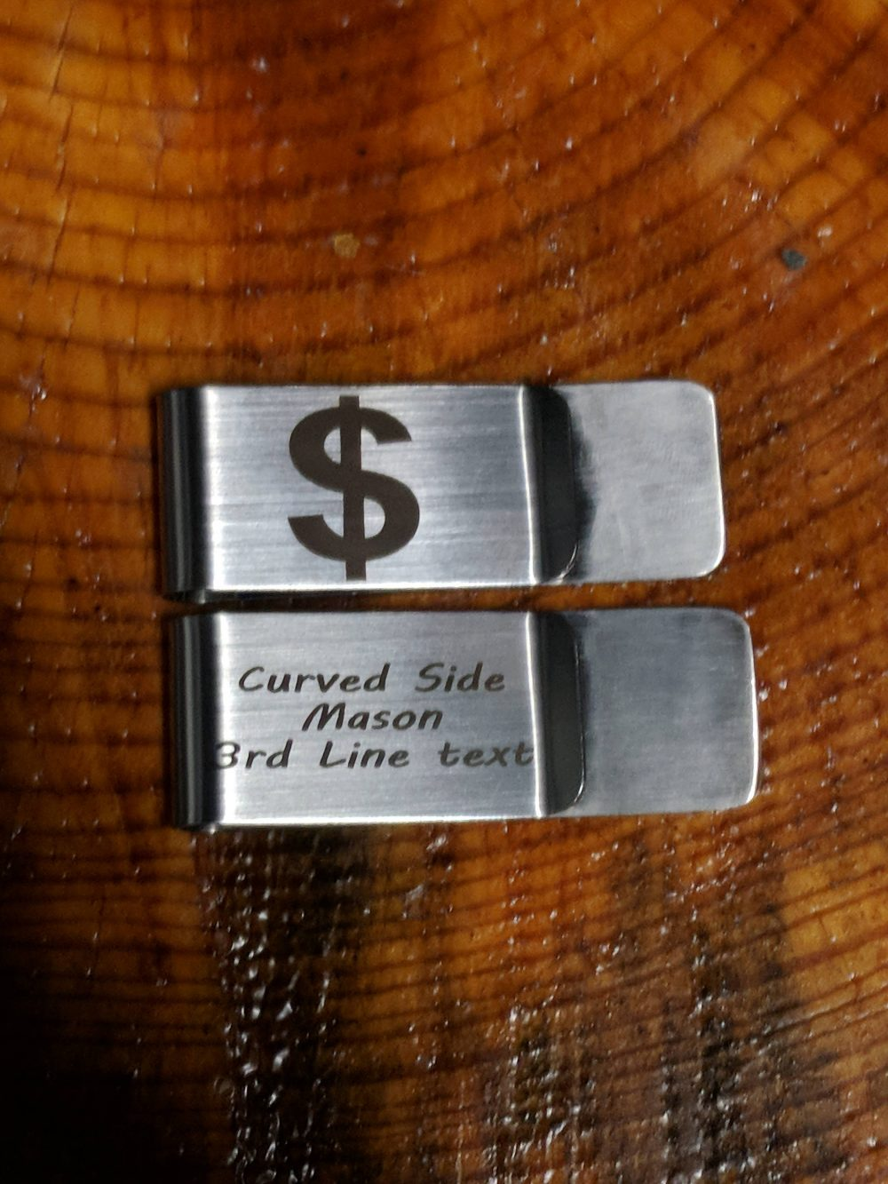 Personalized Money Clip, Engraved Customized Groomsmen Clip