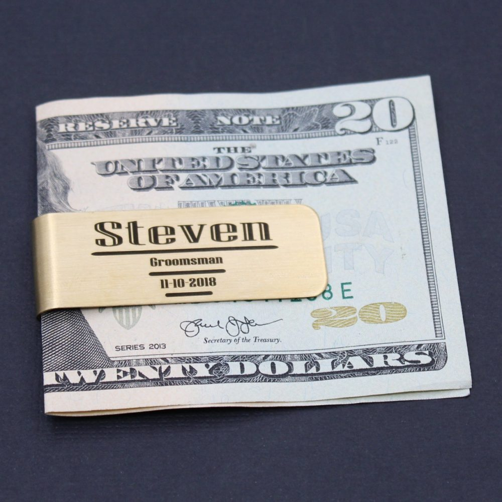 Best Man Gift Ideas Personalized Money Clip Engraved, Groomsmen Ideas, Wedding Party For Him