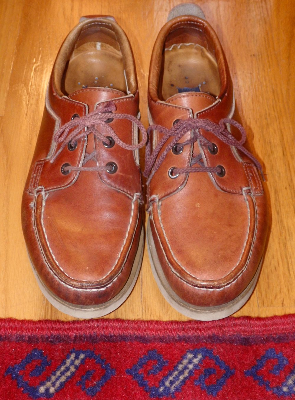 Early 1980S Sperry Top Sider Country Siders Mens Leather Walking Shoes~Boat Shoes