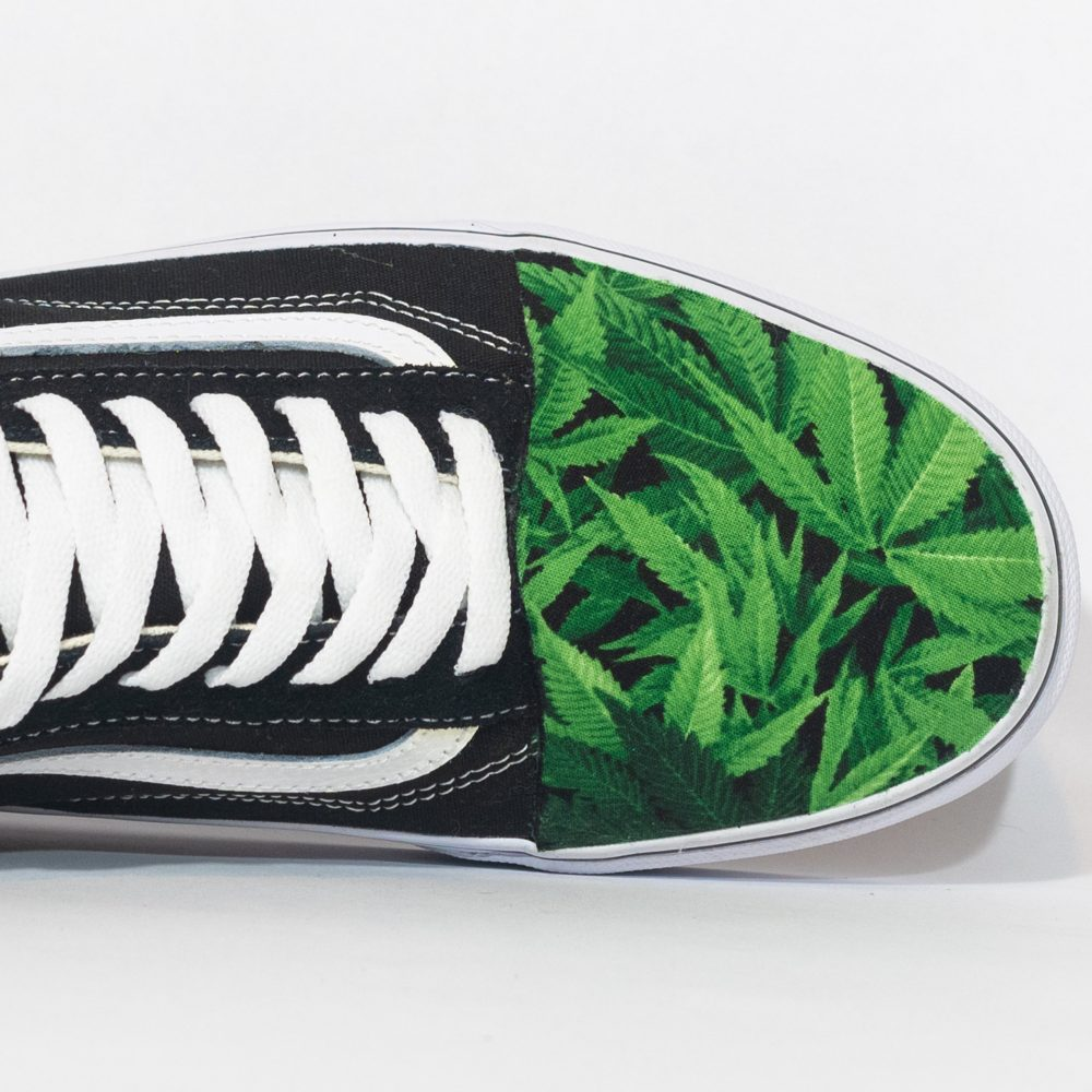 "Vans Low Top Custom ""Kush' Available in All Sizes For Men, Women, Children"