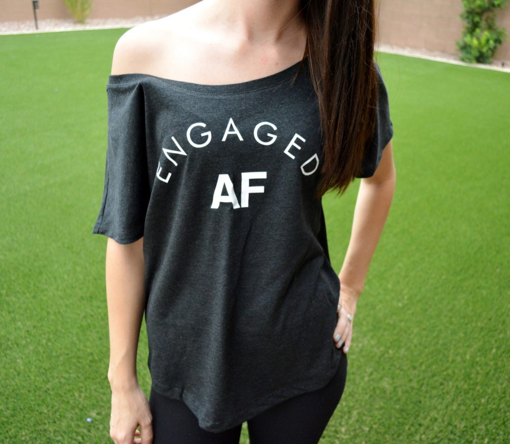 Engaged Shirt, Engaged Af, Funny Af Just Newly Engaged, Engagement Gift, Party Fiancee Shirt
