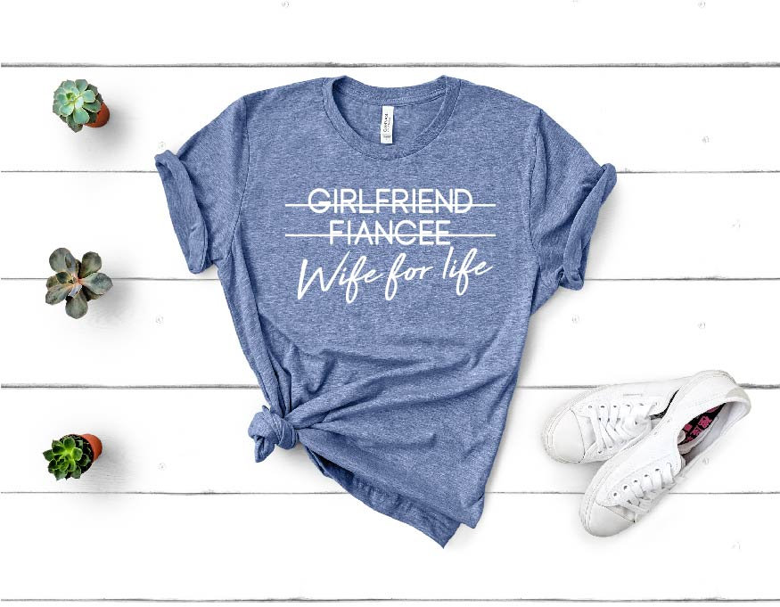 Girlfriend Fiancee Shirt, Boyfriend Fiance Matching Couples Engagement Wedding Shirts, Bridal Gift