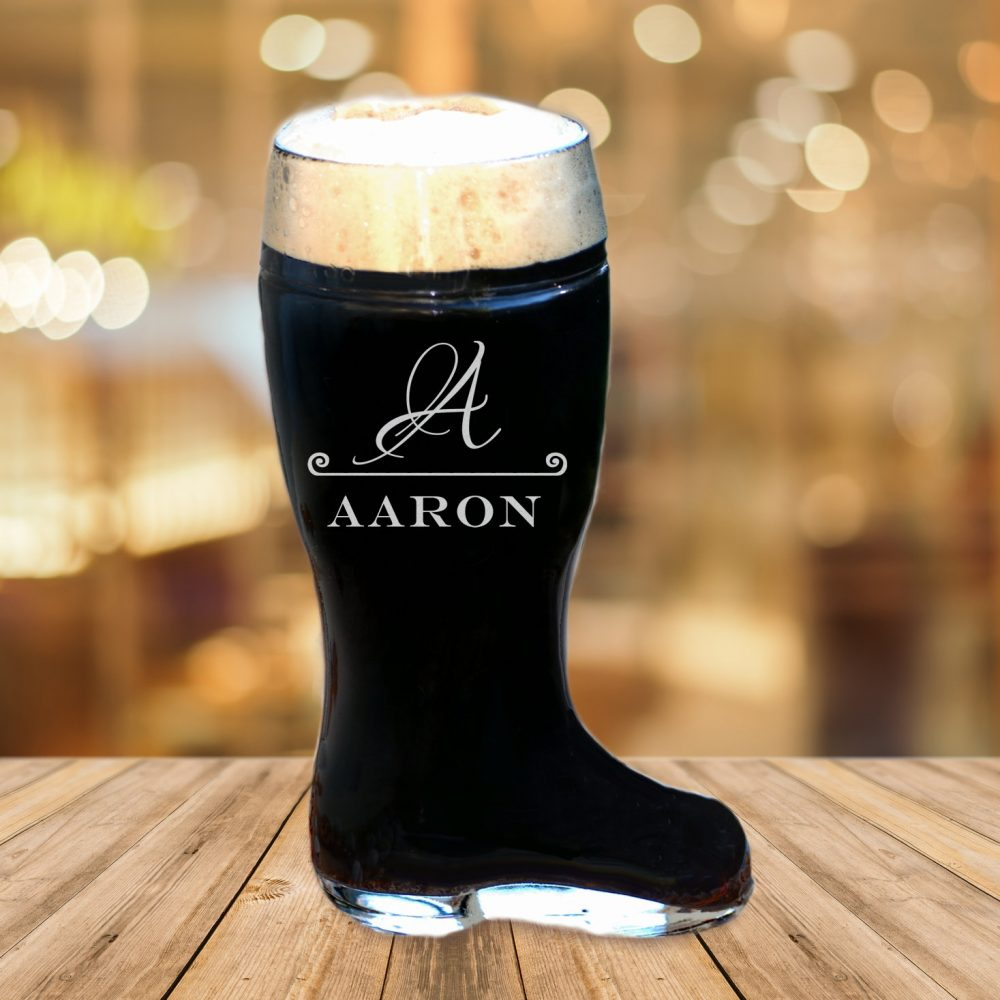 Fiance Engagement Gift, Personalized Beer Boot, Country Wedding, Custom Glass, Husband To Be, Destination Wedding Boyfriend Mug