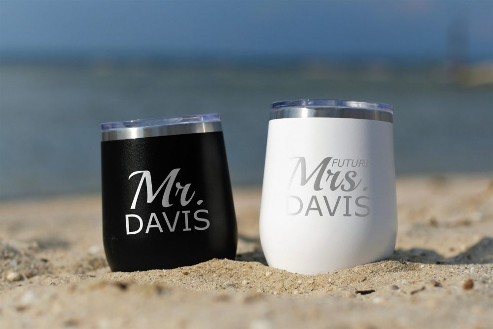 Future Mrs & Mr Tumblers - Wedding Gift Mugs For The Couple Engagement Present Shower Mug Cup