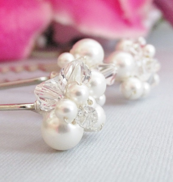 Wedding Hair Accessories, Pins, Pearl Bridal & Crystal Pins