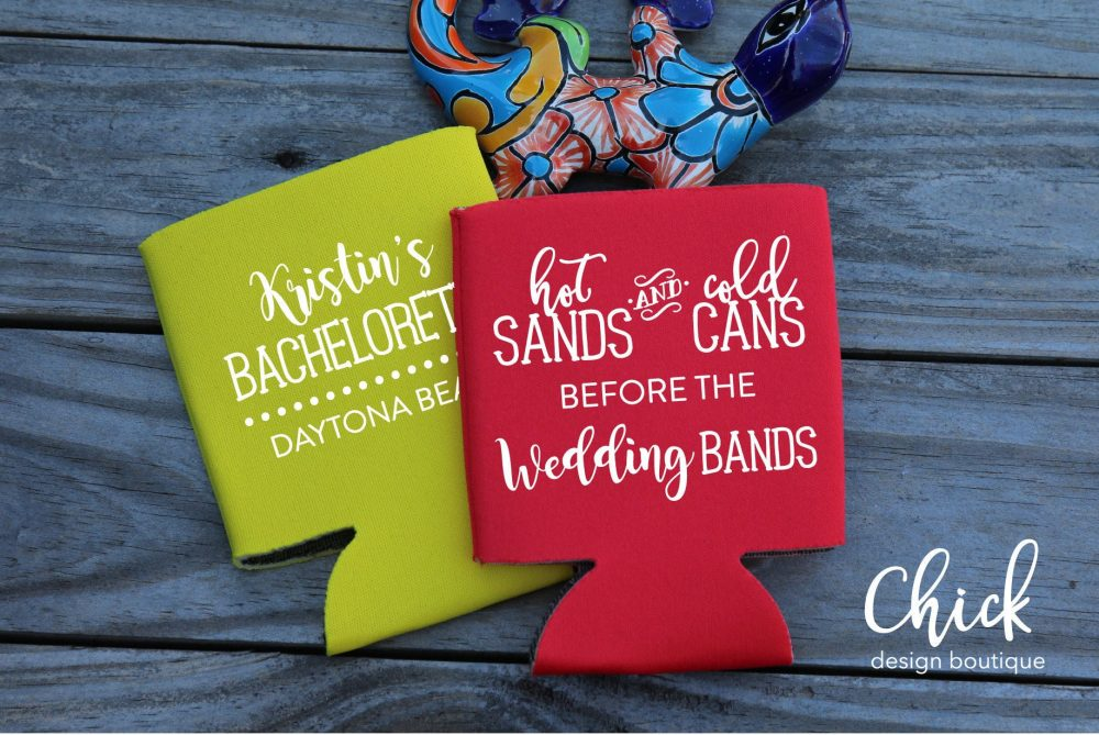 Hot Sands & Cold Cans Before Wedding Bands Bachelorette Coolers, D464