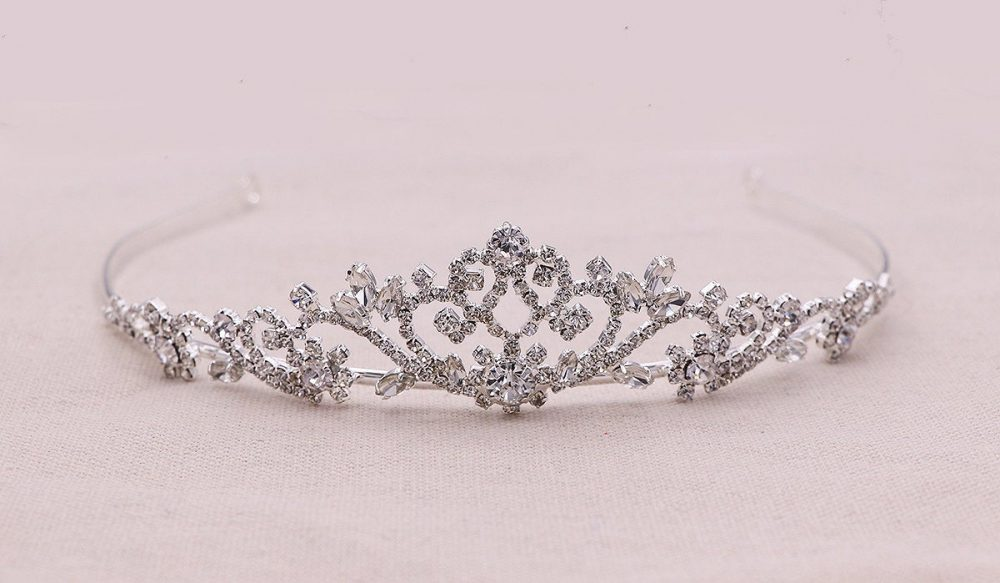 Flower Girl Tiara, Swarovski Crystal Wedding Headpiece, Rhinestone Tiara, Rhinestone, First Communion Marah Tiara