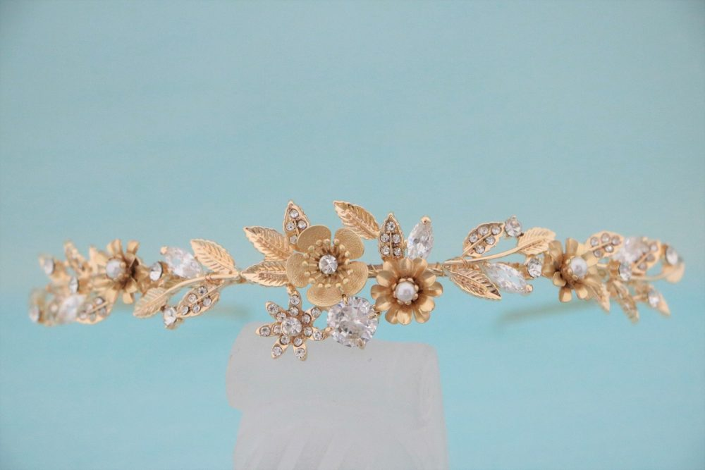 Crystal Bridal Headband Headpiece, Wedding Headband, Wedding Headpiece, Rhinestone Tiara, Crystal Headband, Wedding Hair Rose Gold Tiara