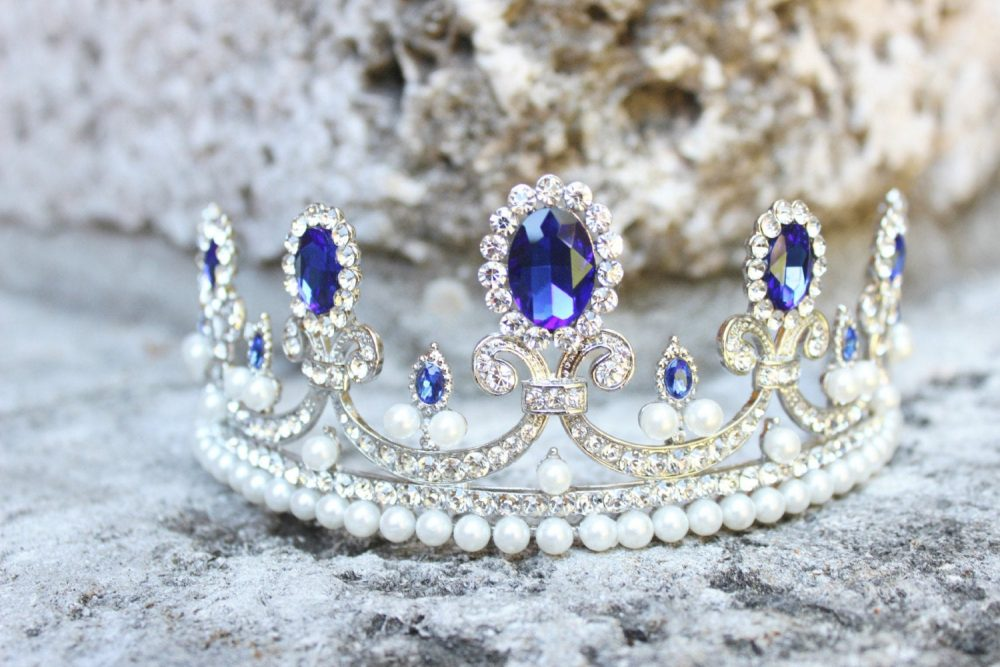 Bridal Tiara Sapphire Blue -Marie-Amelie, Swarovski Tiara, Crystal Wedding Crown, Rhinestone Tiara, Diamante Crown