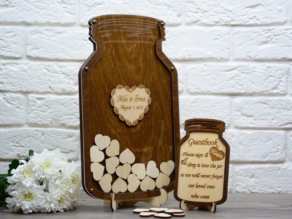 Alternative Wedding Guest Book, Mason Jar Guest Book From Weddingsouvenirs, Memory Gift