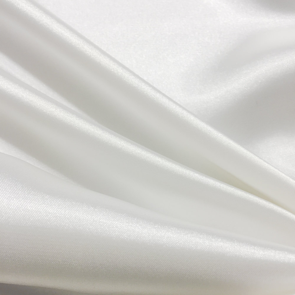 White Prom & Wedding Bridesmaid Dress Bridal Satin Fabric For Bridesmaids Dresses, Party Decoration Fabric, Dresses - 1101