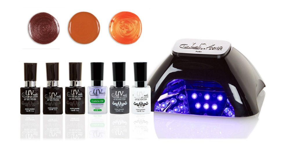 Uv-Nails Led Lamp & Gel Nail Polish Set V10-B-1