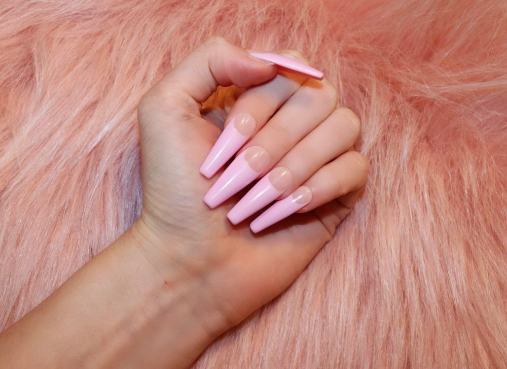Soft Pink French Press On Nails | Light Nails, Gel Nails