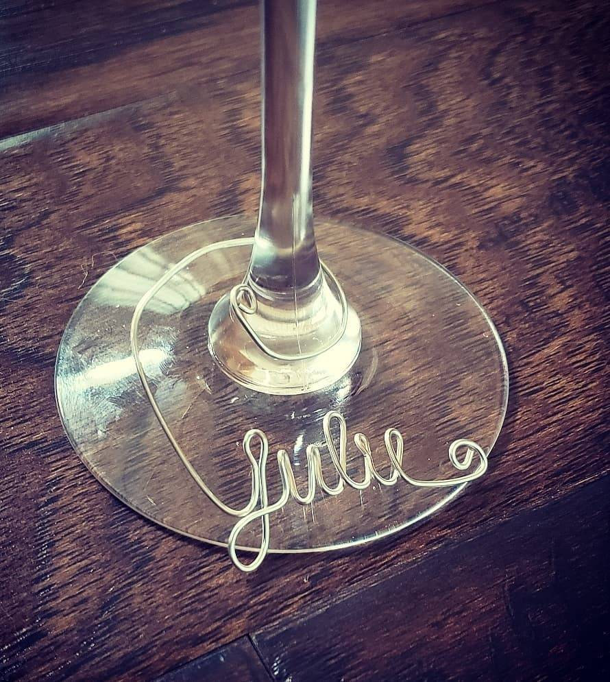 Wine Glass Charm/Wedding Favor/Party Favor/Wedding Gift/Wire/ Club/Mother's Day Gift