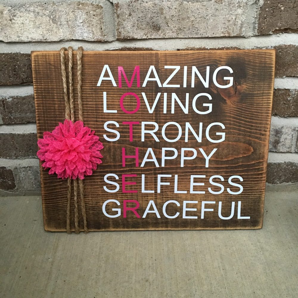 """Rustic Mother's Day Gift/Mother Of The Bride 11"""" X 14"""" Wooden Sign """" Free Shipping"""